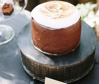 Outdoor dinner party cake
