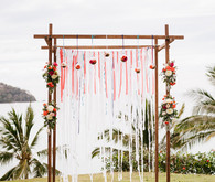 Outdoor wedding altar