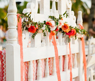 Outdoor wedding tables cape decor
