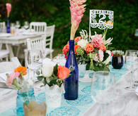 Outdoor wedding tablescape