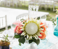 Outdoor wedding florals