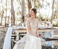 Rustic bride portrait