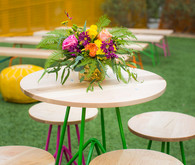 Modern neon wedding decor