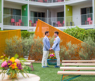 Saguaro Hotel Palm Springs wedding ceremony