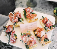 Italian inspired wedding food