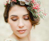 Wedding floral headpiece
