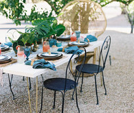 Tropical, summer wedding inspiration tablescape