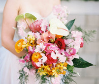Tropical colorful bouquet