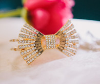 Bridesmaid gold bow bracelet