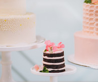 Mini naked cake dessert table