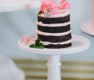 Mini chocolate naked cake