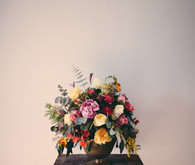 Industrial modern wedding floral decor