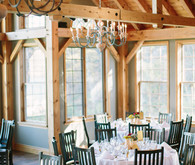 Rustic fall wedding reception