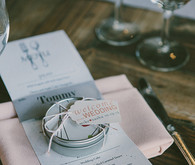 Place setting wedding favors