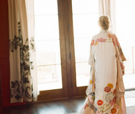 Colorful wedding robe