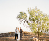 Malibu sunset elopement ceremony