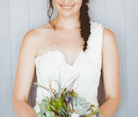 Bride with fishtail braid