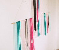Colorful ribbon wall decor