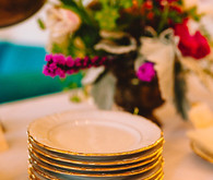 Gold and white plates