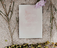 Purple watercolored invitation
