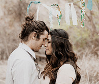 Bohemian inspired engagement portrait
