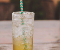 Cocktail with chevron straw