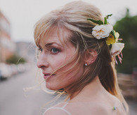 Bride with flower head piece