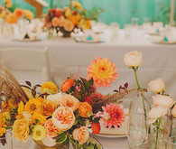 Modern and colorful tablescape