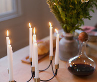 Black and gold candelabra