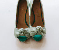 Light green wedding heels