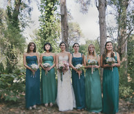 Outdoor bridemaids portrait