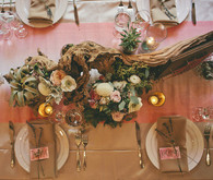 Wooden tablescape decor