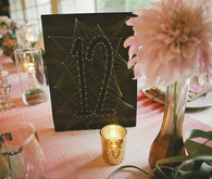 Wooden art table number