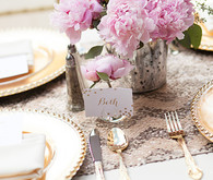 Gold and pink bridal shower