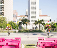 Modern downtown Los Angeles wedding ceremony