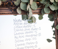 Mirror escort cards