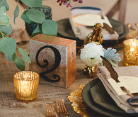 Rustic wood table number