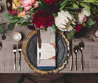 Rustic fall wedding place setting