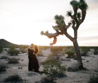 Bohemian desert wedding portrait