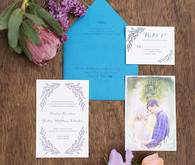 Garden wedding invitation suite