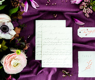 Spring wedding invitation suite
