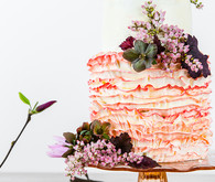 Colorful spring wedding cake