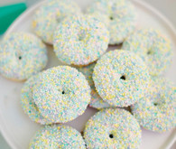 mint sprinkle donuts