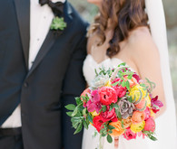 Colorful Arizona wedding portrait