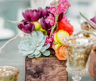 Colorful wedding florals