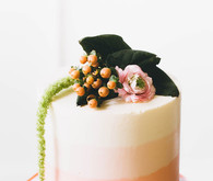 Pink retro wedding cake