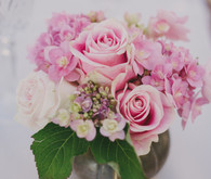 Pink wedding florals
