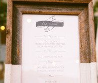 Rustic bar menu