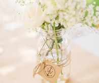 White wedding florals