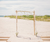 Beach wedding altar